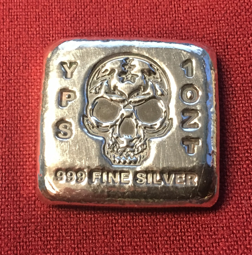 1 Oz Skull Bar Yeager S Poured Silver 330 299 5239