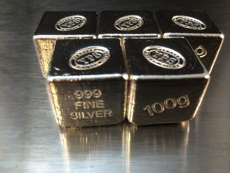 100 Gram YEAGER'S POURED SILVER CUBE