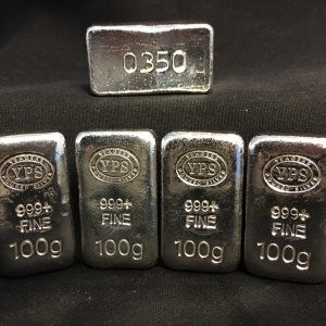 100 Gram YEAGER'S POURED SILVER BAR