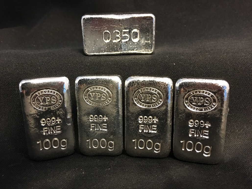 100 Gram Yeager S Poured Silver Bar Yeager S Poured