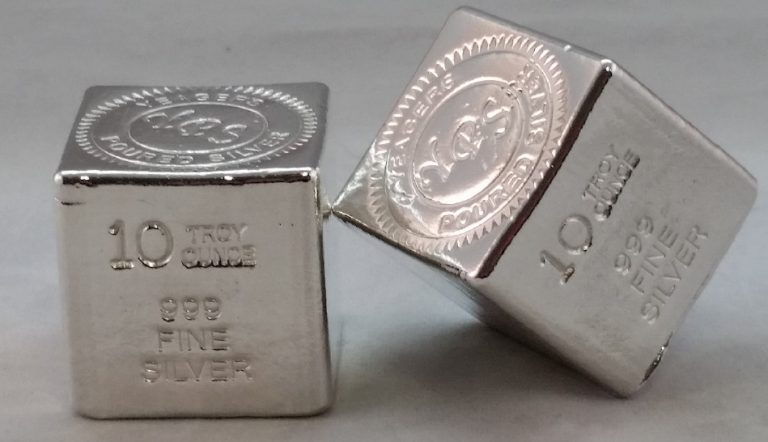 10 Oz. YEAGER'S POURED SILVER CUBE