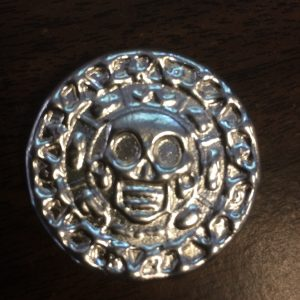 25 Gram YEAGER'S POURED SILVER PLATA MUERTA (DEAD SILVER) (no patina)