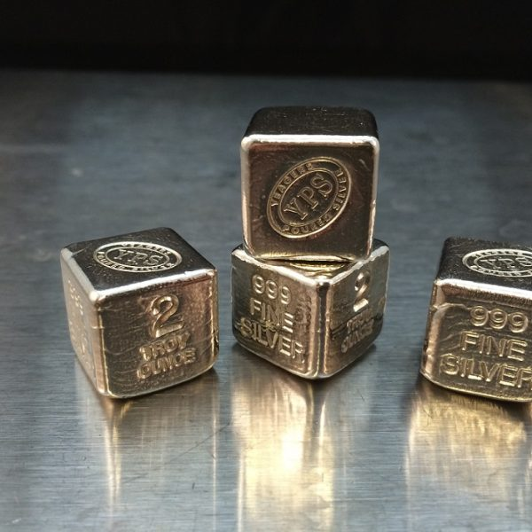 2 Oz. YEAGER'S POURED SILVER CUBE