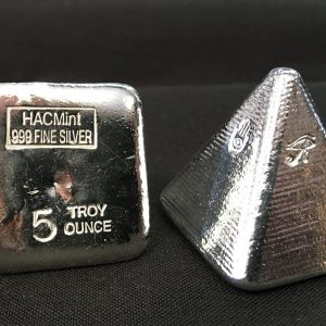 5 Oz. YEAGER'S POURED SILVER HAC EGYPTIAN PYRAMID