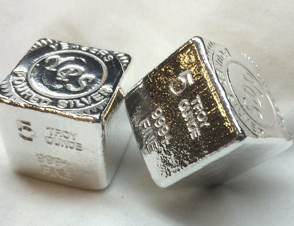 5 Oz. YEAGER'S POURED SILVER CUBE