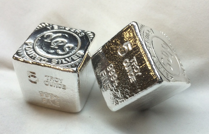 5 Oz Yeager S Poured Silver Cube Yeager S Poured Silver