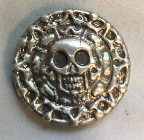 50 Gram YEAGER'S POURED SILVER PLATA MUERTA (DEAD SILVER) (with patina)