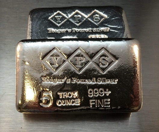 5 Oz. YEAGER'S POURED SILVER BAR