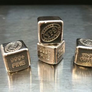 YEAGER'S POURED SILVER 1 OZ. HAND POURED CUBE