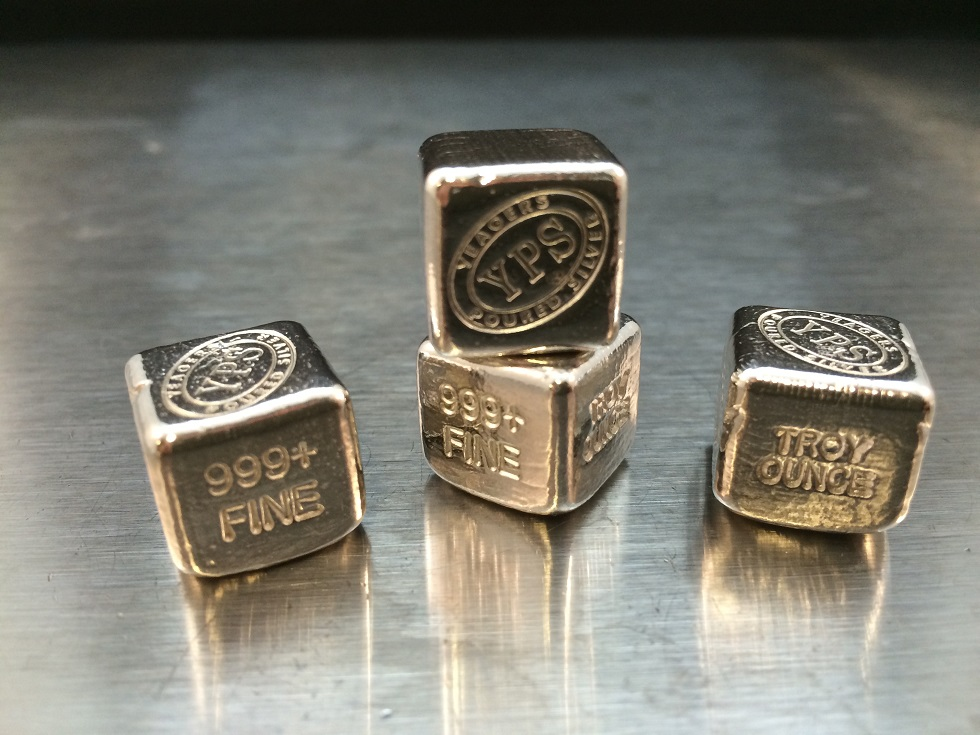 1 Oz Yeager S Poured Silver Cube Yeager S Poured Silver