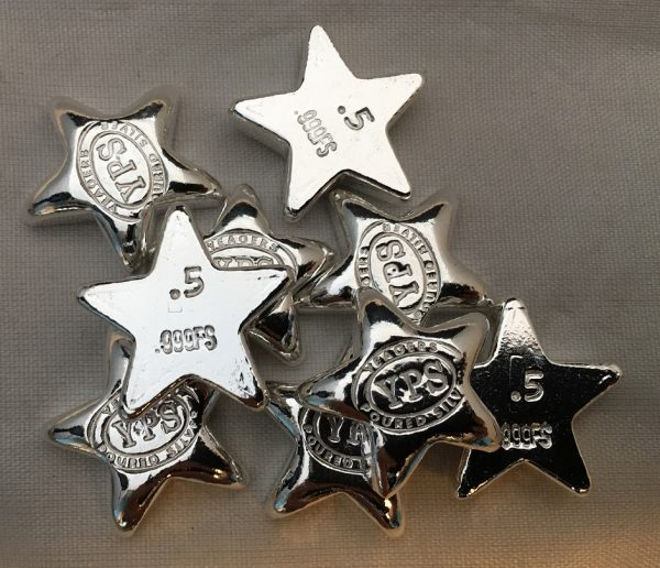 1/2 Oz. YEAGER'S POURED SILVER STAR