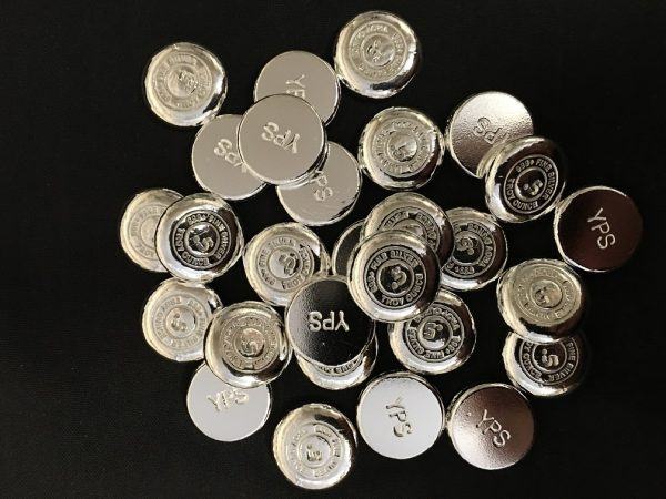 1/2 OZ. YEAGER'S POURED SILVER BUTTON